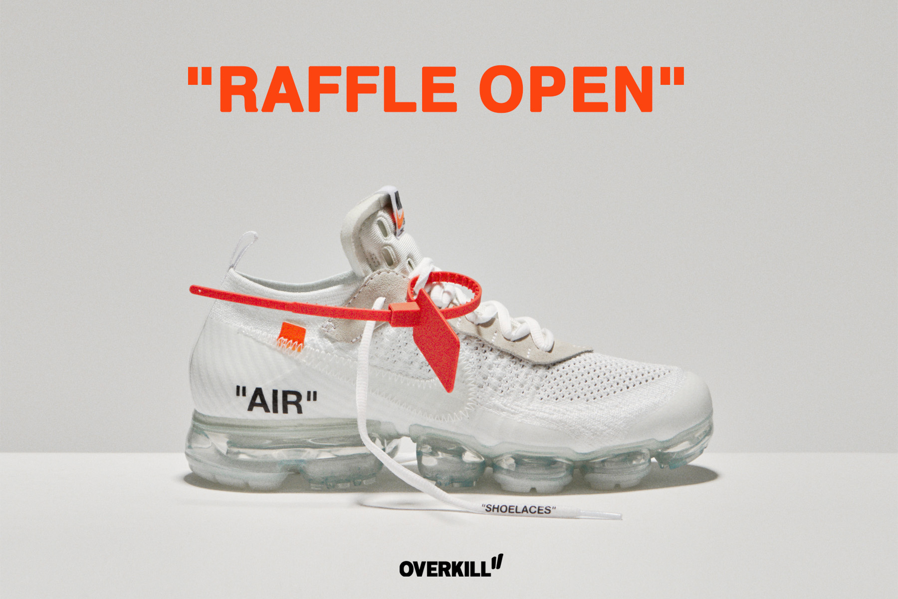new concept ded5d c32d2 The Ten: Off-White x Nike Air VaporMax 'White' Raffle ...